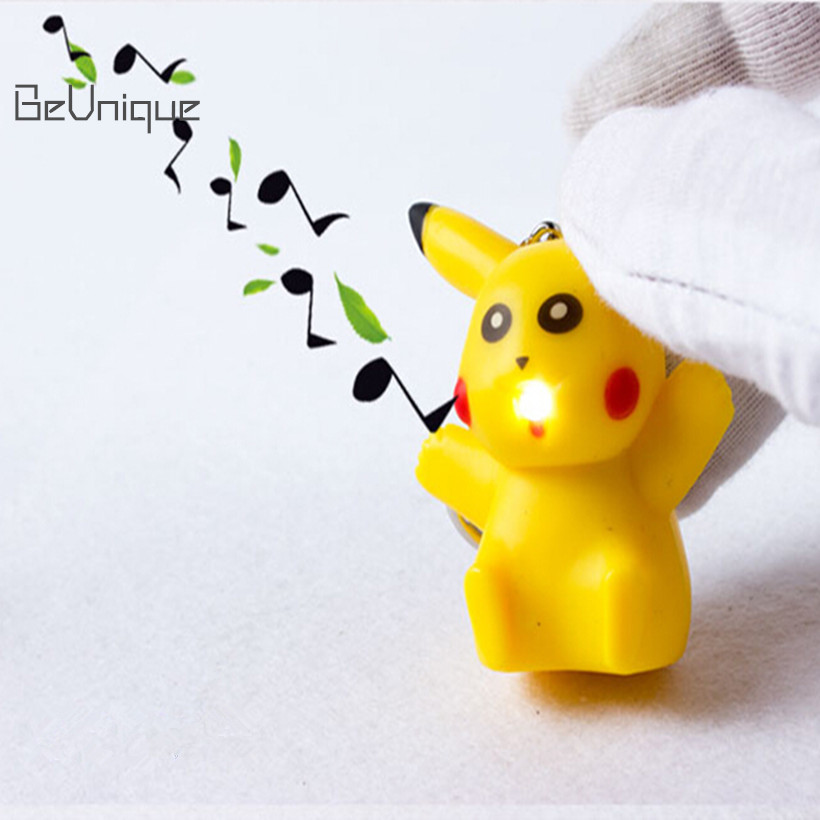 Digimon Pikachu LED Key chain with Sound & Light Cute