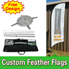 Single Sided Feather Flags Banners With Cross Base Custom Printing Cheap Flags FREE Shipping FREE Design