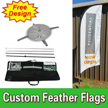 Single sided Feather flags banners with Cross Base Custom Printing Cheap Flags FREE Shipping FREE Design feather flags for sale