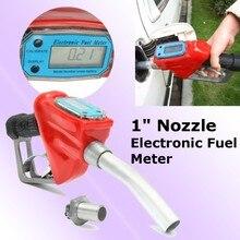 "Kraftstoff Benzin Diesel Benzin Lieferung Flow Meter Düse Refill Gun Dispenser 1"""