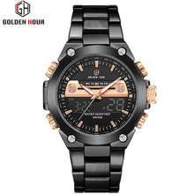 Men Watches Male Brand Sports Watches Steel Strap LED Digital Military Quartz Watch Men Luxury Wrist Watch Relogio Masculino