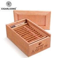 CIGARLOONG Cigar Box Cigar Humidor Cedar Wood Humidor Paintless Alcohol Box 50 Pack CA 4007