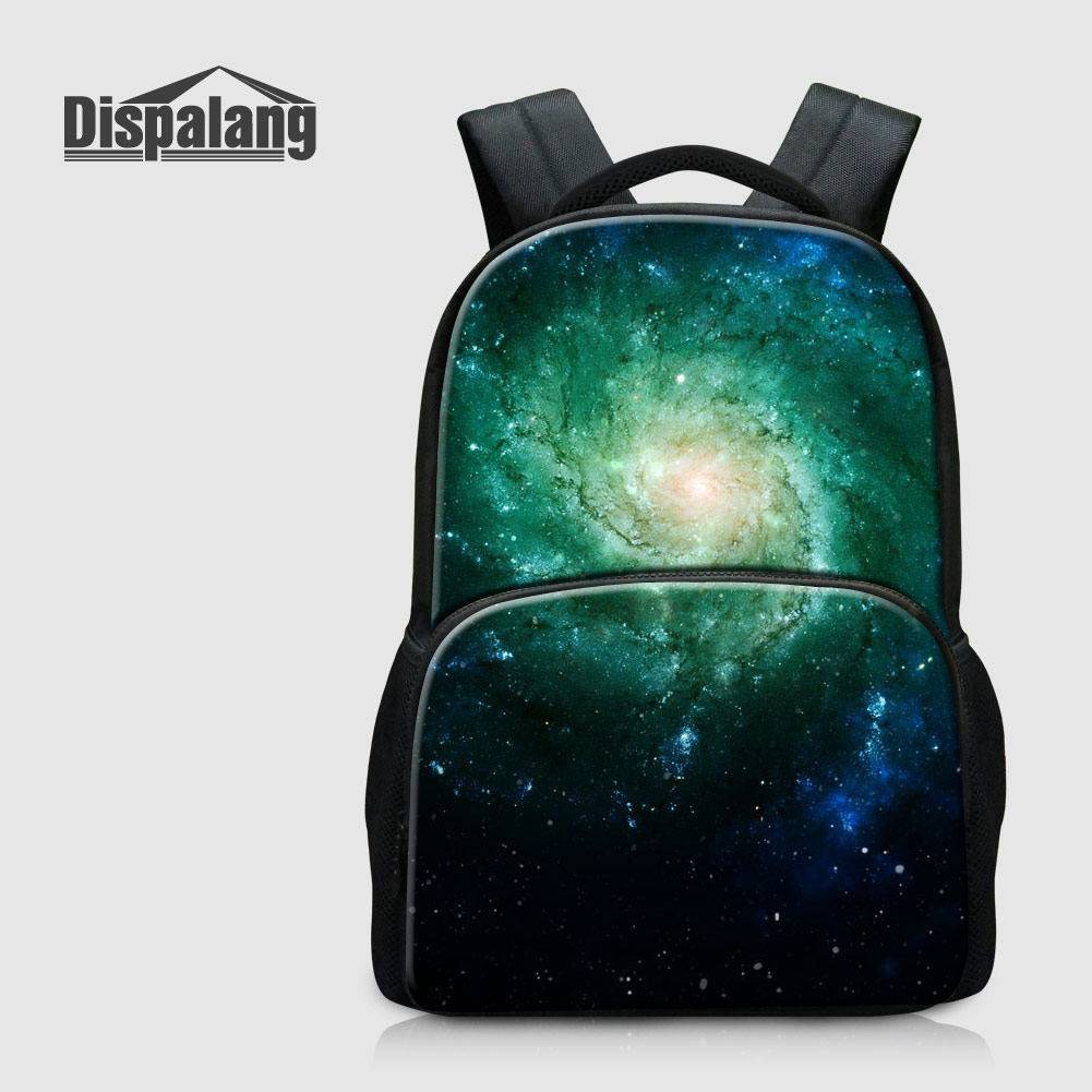 Dispalang Galaxy Universe Space School Backpack For Teenage Girls Travel Shoulder Bags Starry Bookbags Canvas Top Quality Rugtas 2017 new women galaxy star universe space canvas backpack multicolor school bags for girls mochila feminina teenage campus bags
