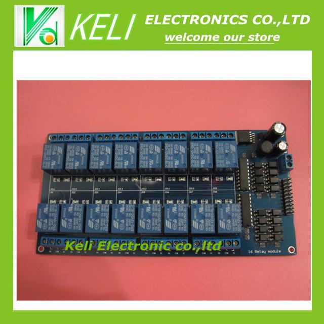 Frete Grátis 2 pcs 12 V 16 Canal Módulo de Relé Interface Board PIC ARM DSP PLC Com Proteção Optoacoplador LM2576 poder FZ0196