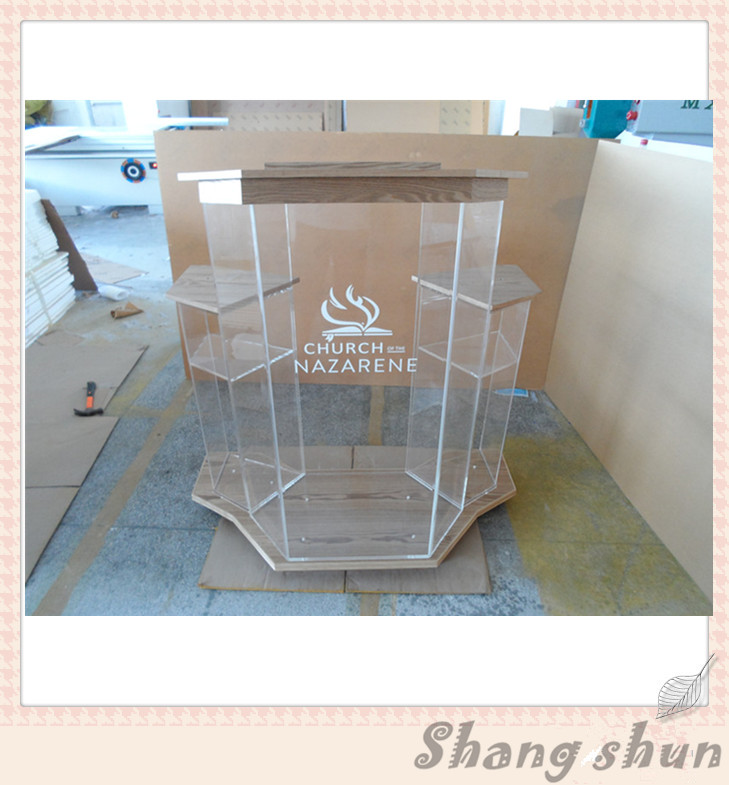 High quality customized acrylic lectern for church pulpit / acrylic lectern church lectern 40 60cm customized acrylic signboard acrylic business sign for company
