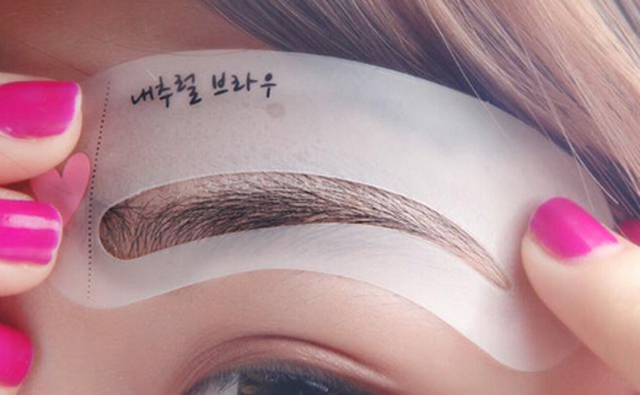 3 Pieces/pack Durable Eyebrow Stencil Eyes Makeup Clear Eye Brow Drawing Template Assistant Card Brow Shaping Model for Beginner 4