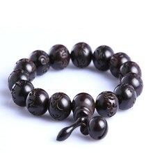 Ubeauty natural hand carved peach wood bead bracelets Tibeten buddha prayer mala rosary Men's Women meditation couple bracelet