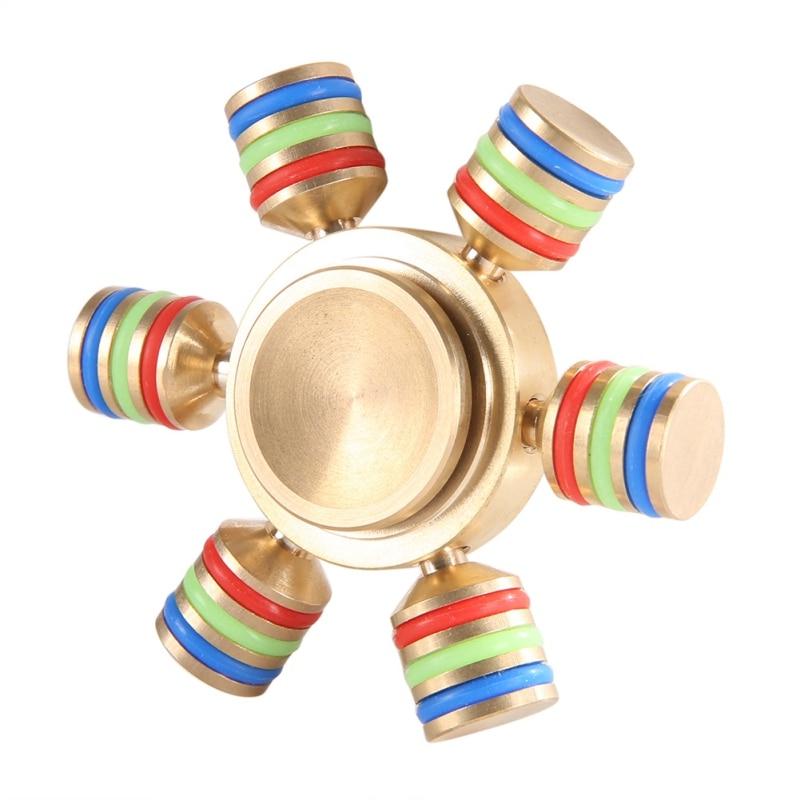 Fidget Spinner Finger Brass hand Spinner EDC Sensory Cent Decorate finger spinner metal For Autism ADHD Adult Anti Stress Toy 07