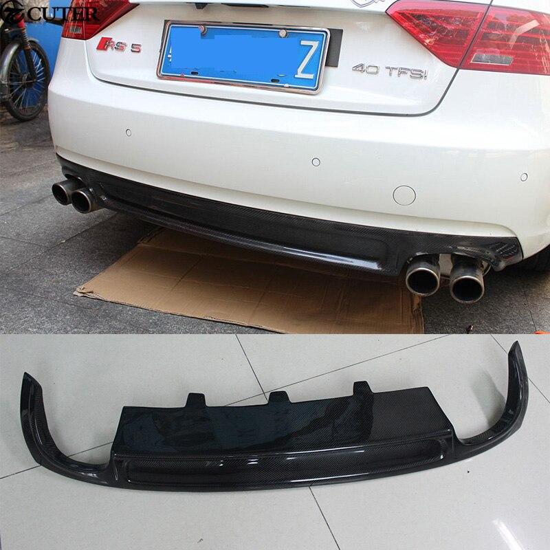 A5 Coupe Sportback S5 style Carbon Fiber Rear Bumper Lip Diffuser For Audi A5 Coupe Sportback standard Car body kit 12 16