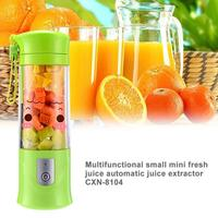 400ml USB Mini Juice Rechargeable Blender Mixer Portable Mini Juicer Juice Machine Smoothie Maker Household Juice Extractor