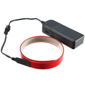 Modos de 1 M 4 Fita Eletroluminescente Fio EL Glowing LED Corda Faixa de Luz com Caixa de Bateria AA 3 Plana V