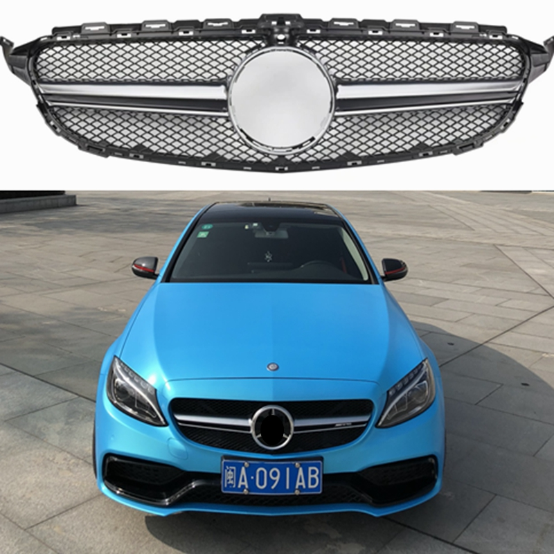W205 ABS AMG Style Front Mesh Racing Grill Grille for Mercedes-Benz W205 New C-class C180 C200 C220d C250 C260 C400 Mercedes-Benz A-класс