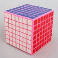 Shengshou Plastic 77mm PVC Sticker 7x7x7 Speed Puzzle Magic Cube Educational Toys For Children Kids Baby - Pink