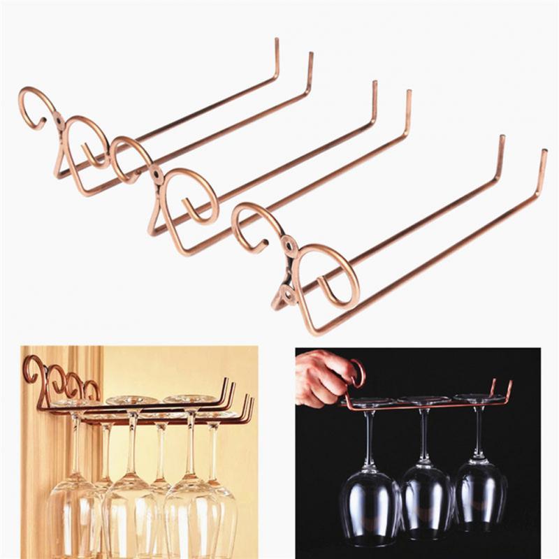 Beautiful Support Verre A Pied Pour Bar #12: Vin Tasse Porte-verre De Vin Potable Pendaison Lunettes Verres À Pied Rack  Sous Armoire
