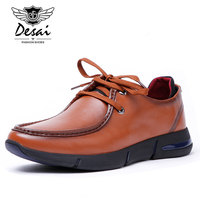 DESAI Brand Men Shoes Genuine Leather Italian Designer Men S Casual Trainers Shoes Lace Up Shoes