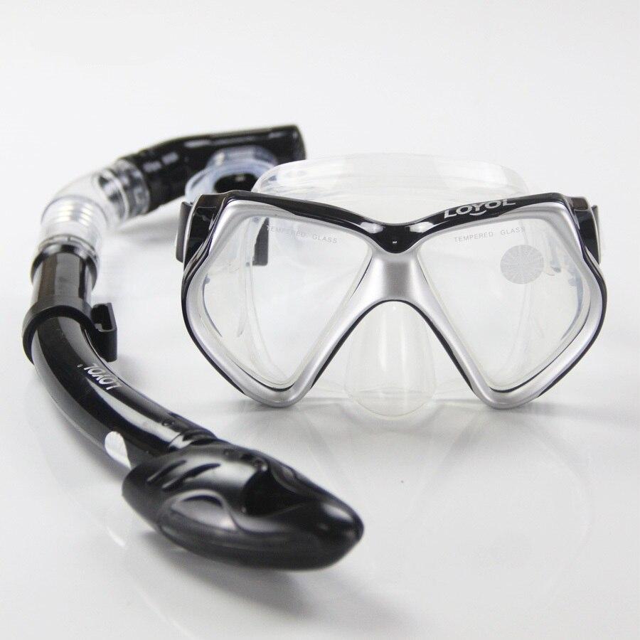 LOYOL haute qualité combinaison masque de plongée tuba sec plein tube de Respiration Sous L'eau Natation tuba plongée ensemble livraison gratuite