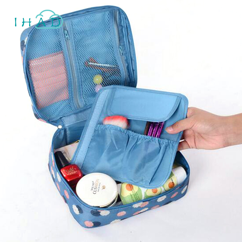 Korean style Pattern cosmetic storage box portable Makeup box Underwear bra organizer organizador Anti-dust Travel bag