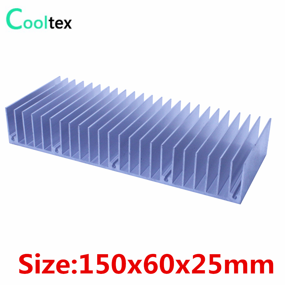 (5pcs/lot) High quality 150x60x25mm radiator Aluminum heatsink heat sink for  LED Electronic Power Amplifier cooling cooler high power pure copper heatsink 150x80x20mm skiving fin heat sink radiator for electronic chip led cooling cooler