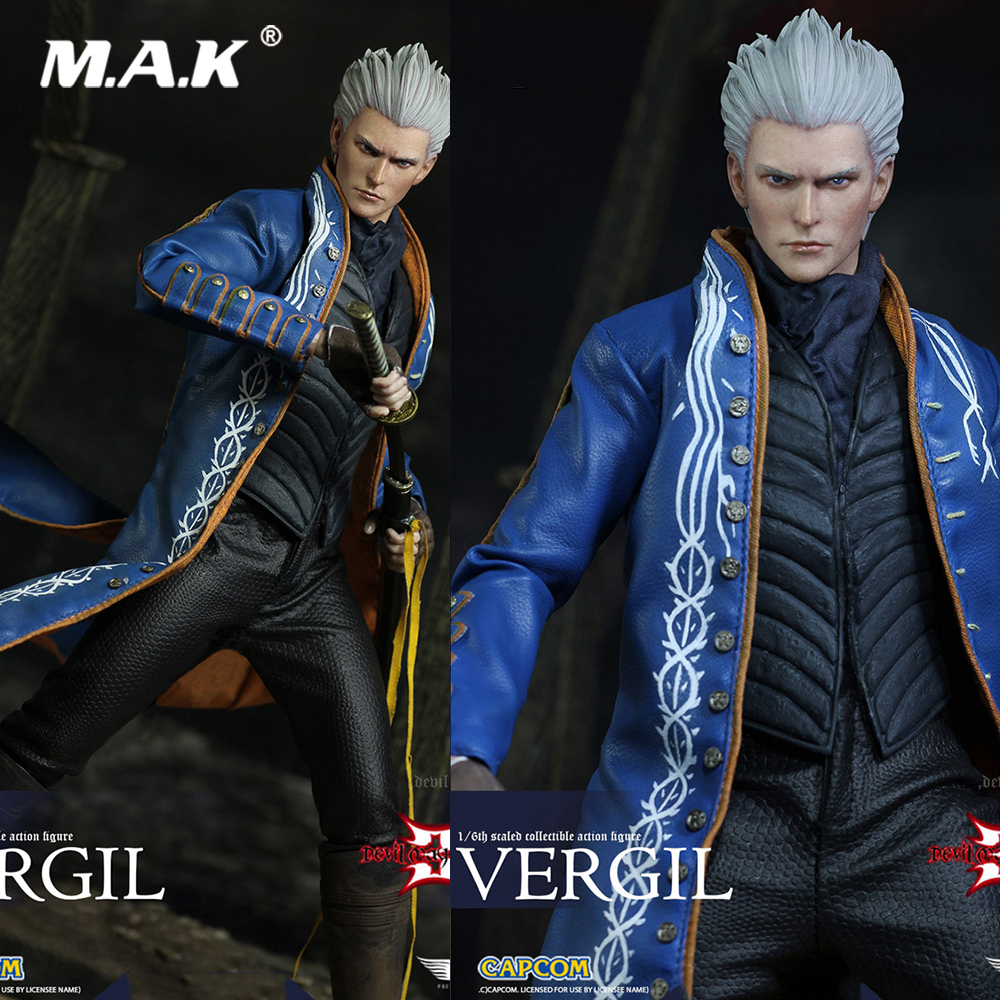 где купить For Collection DMC002 1/6 Scale Devil Hunter 3 Devil Cry Series Vergil 12 Inches Collectible Action Figure for Fans Holiday Gift дешево
