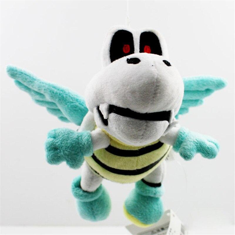 18cm Super Mario Bros Flying Winged Dry Bones Turtle Koopa Soft Stuffed Plush Toy Dolls FREE SHIPPING