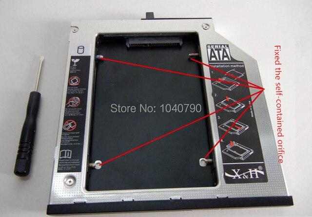 9.5mm Bezel SATA 2nd HDD Hard Drive caddy bay for T410 T410s T410i T410si T420s T420si T430s T430si T400 T400s T500 W500