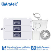 Lintratek  Tri Band 850 1800 2100 MHz Cell Phone Signal Booster B5/B1/B3 Tri Repeater 2G 3G 4G CDMA WCDMA LTE DCS Amplifier #fs|Signal Boosters|   -