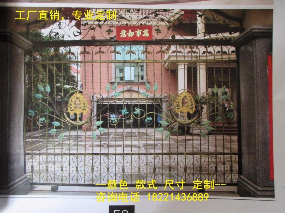 Custom Made Wrought Iron Gates Designs Whole Sale Wrought Iron Gates Metal Gates Steel Gates Hc-g86