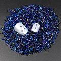 Jalea AB Negro Azul 2mm 3mm Cristal Facetas Resina Posterior Plana de Los Rhinestones Del Arte Del Clavo de perlas de Caramelo 2000 unids de La Decoración del rhinestone