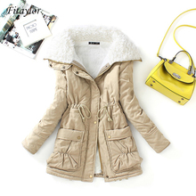 Fitaylor Cotton Coat Jacket Outwear Padded Parkas Snow Warm Medium-Long Winter Women