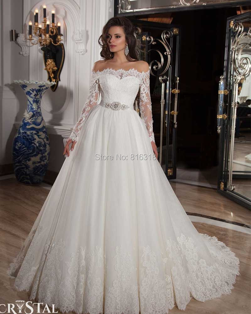 Vestido De Noiva Manga Longa Sexy Ball Gown Country Western Wedding Dresses  Long Sleeve White Lace Wedding Dress 2016 Casamento In Wedding Dresses From  ...