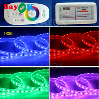 RGB LED light strip waterproof DC 12V LED light strips with remote controller for Sayok inflatable photo booth