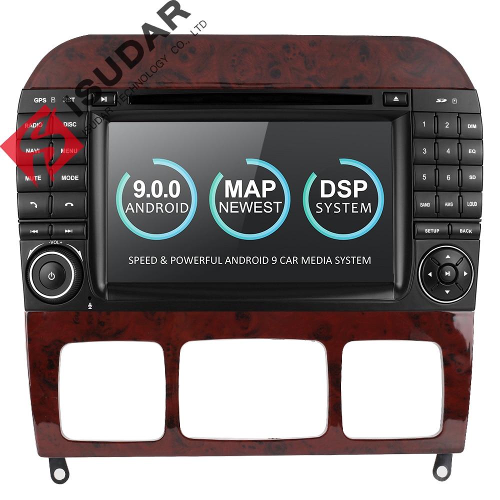 Radio automatique Isudar 2 Din Android 9 pour Mercedes/Benz/W220/W215/S280/S320/S350/S400 S lecteur vidéo multimédia de voiture GPS DVR
