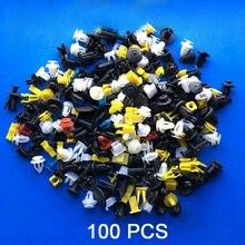 100 Stks/partij Universele Gemengde Plastic Clips Voor Auto Fender Bumper Deur Auto interieur Oppervlak Decoratie Auto Accessoires