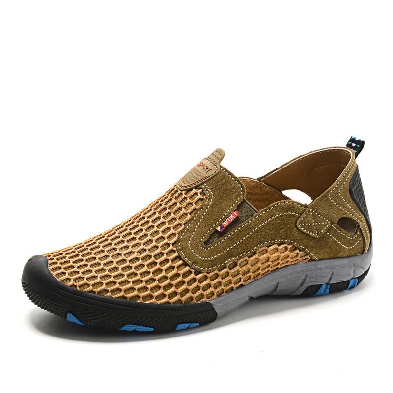 2017 Zapatos de Los Hombres de Los Holgazanes de Verano Transpirable Hombres Zap