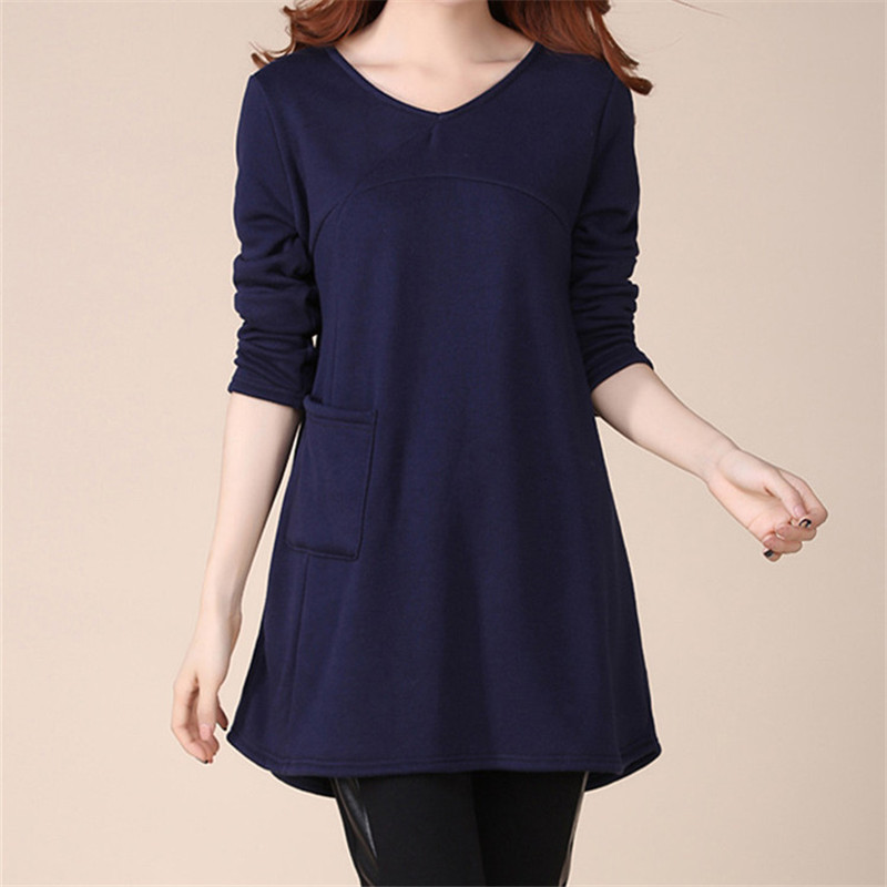 988be8c99c1 New Plus velvet Maternity Clothes Pregnant Women Plus Size Casual cotton  Pregnancy Loose T shirt Maternity Long tops tees E662-in Tees from Mother    Kids