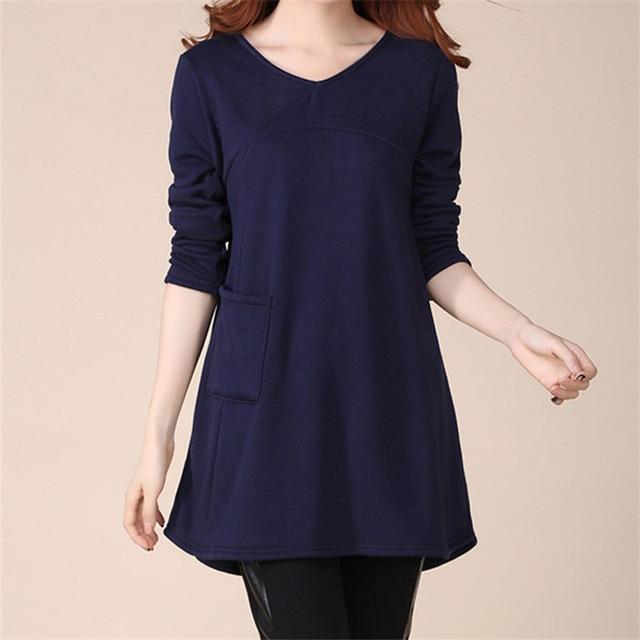 New Plus velvet Maternity Clothes Pregnant Women Plus Size Casual cotton  Pregnancy Loose T shirt Maternity af27a3eac3e8