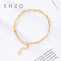 Pure 18K Gold Bracelet For Women Miss Girls Gift Female Fine Jewelry Genuine Real Solid Chain Upscale Hot Sale New Party Trendy