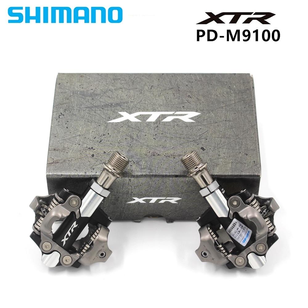 Shimano XTR XC PD M9100 pédales Clipless SPD vélos de montagne auto-verrouillage pédale & crampons boîte avec SH51