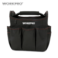 WORKPRO 10 FOLDABLE TOOL BAG 600D Electrical Tools Handbag With Stainless Steel Handle