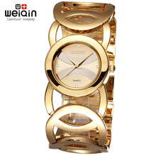 Luxury Women Watches Fashion Quartz Watch Hollow Bracelet Band Wristwatches WEIQIN Brand