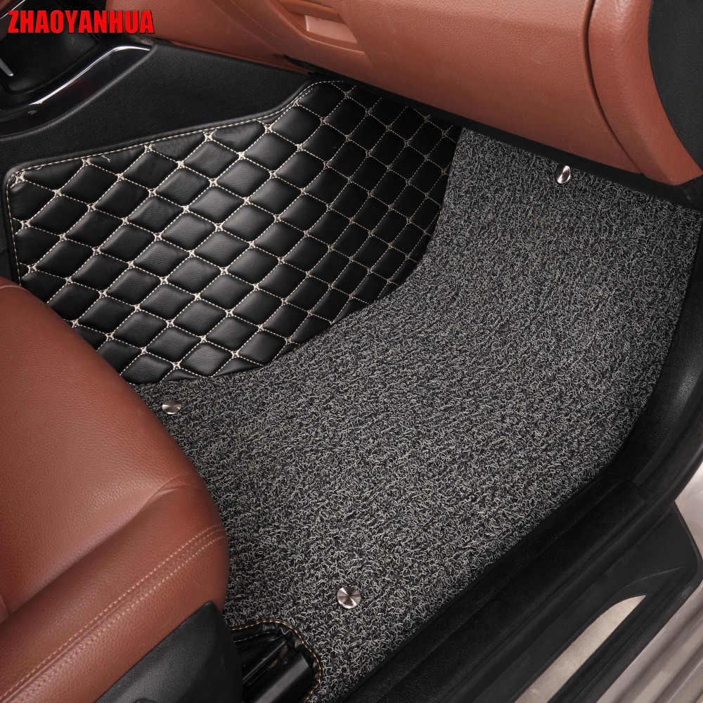 ZHAOYANHUA רכב רצפת מחצלות עבור יונדאי ix25 ix35 טוסון סנטה פה Elantra הסונטה Solaris מלא כיסוי מקרה שטיח שטיחים ספינות