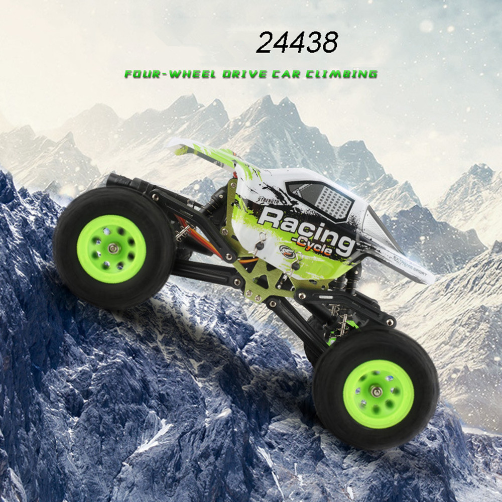 все цены на High Speed SUV Rock Rover Rock Crawler 24438 rc car 2.4G 1:24 4WD Off-Road Electric Climbing Car Vehicle Cars boy gift VS 2098B
