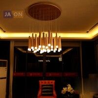 G4 led 포스트 모던 나무 스틱 철 아크릴 샹들리에 조명 lamparas de techo 서스펜션 조명기구 lampen for foyer bedroom