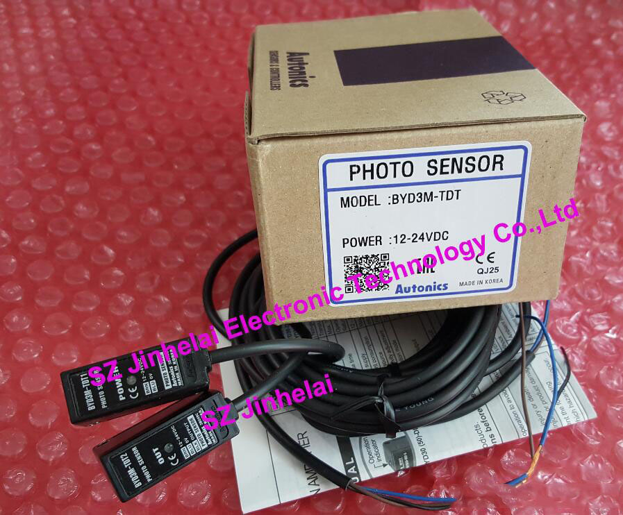 BYD3M-TDT   AUTONICS  New and original   PHOTO SENSOR  12-24VDC 100% new and original fotek photoelectric switch a3g 4mx mr 1 free power photo sensor