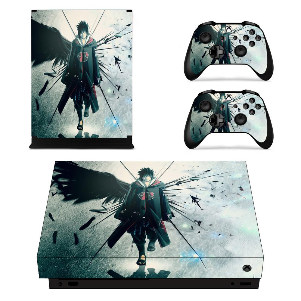 NARUTO Skin Xbox one x Sticker Vinilo Stickers Pegatinas Adesivo For xbox one x console and Two Controllers(China)