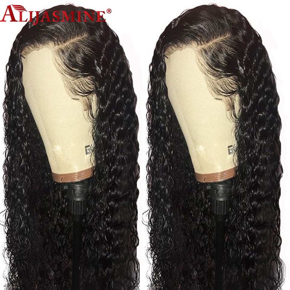 Long 13x6 Deep Parting Brazilian Lace Front Wigs Pre Plucked Hairline Curly Human Hair Wigs With Baby Hair Remy 13x6 Wigs(China)