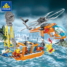 432Pcs City Fire Rescue Air Transport Aircraft Helicopter Ship Building Blocks Sets Bricks Model Kids Toys