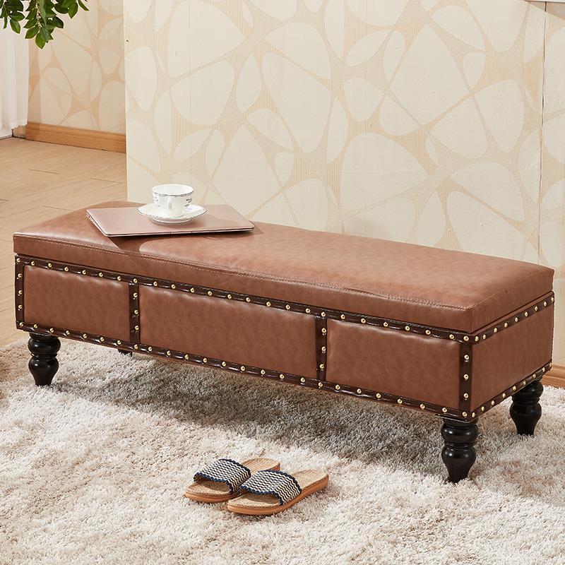 Hermosa Taburetes De Cuero Con Muebles De Almacenamiento Galería ...