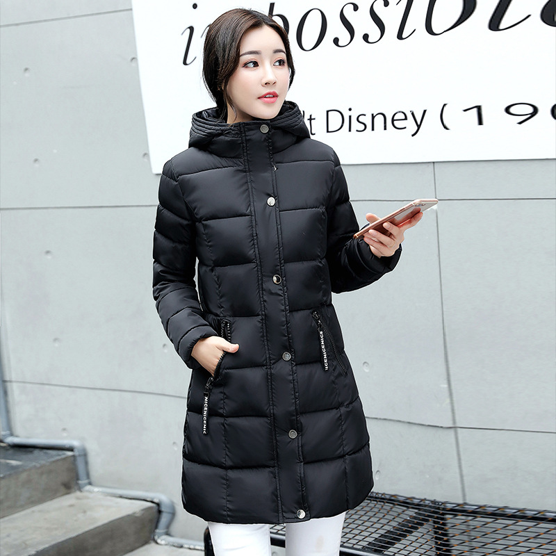 2017 Winter Jacket Women Hooded Thicken Coat Female Fashion Warm Outwear Down Cotton-padded Long Jacket Parka High Quality winter coat male thicken warm quilted jacket hooded long sleeve fleece cotton padded coat men parka snow coat outwear 3xl 4xl
