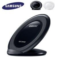 Original Samsung Rápido Cargador Inalámbrico Qi, placa de Carga Para Samsung Galaxy S7 S8 + Nota8 borde para el iphone 8 Plus X Soporte EP-NG930